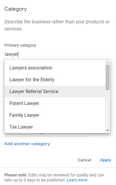 Select the Business Category Fitting Your Business