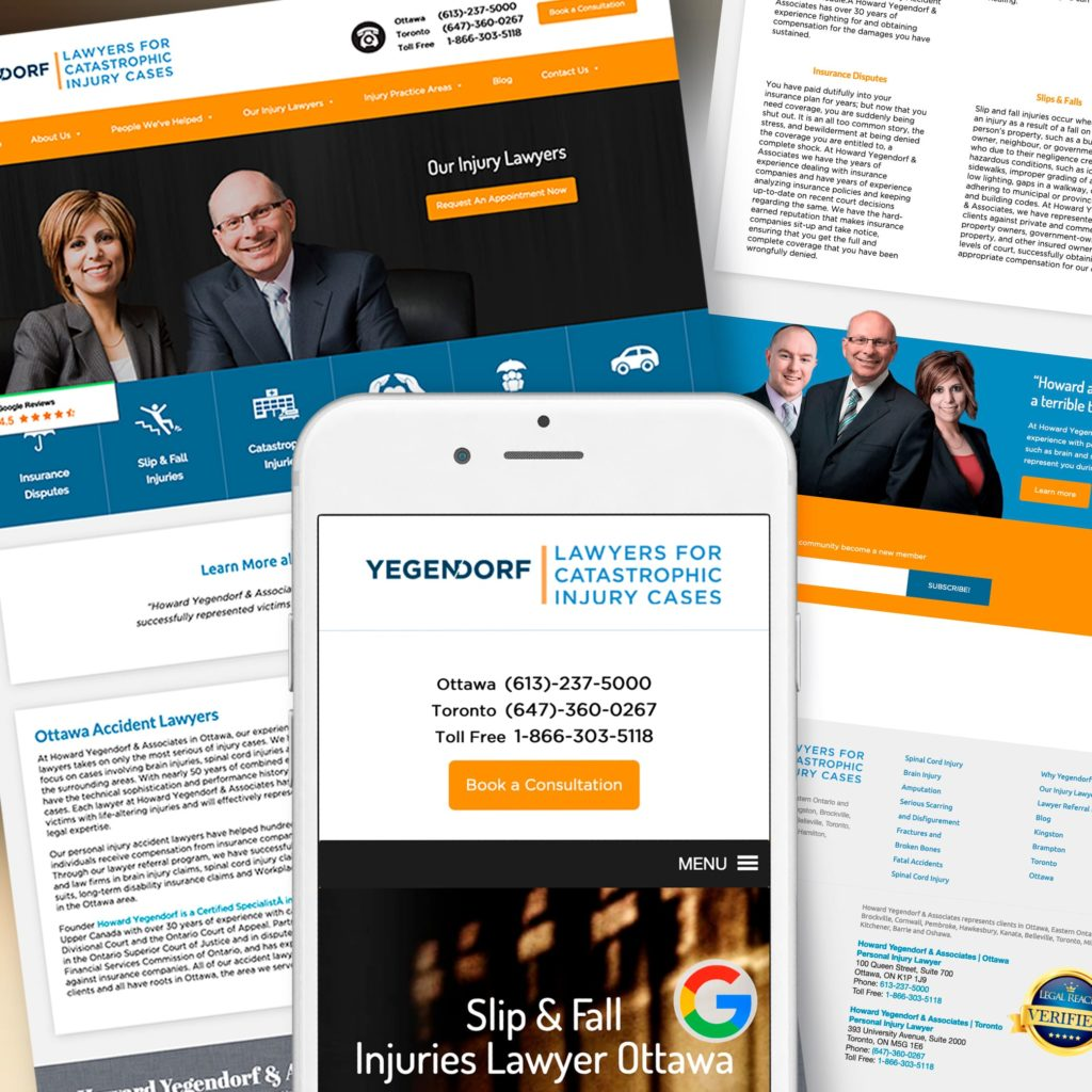 Yegendorf Law Firm Marketing Case Study Design