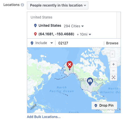Targeting location based users on facebook