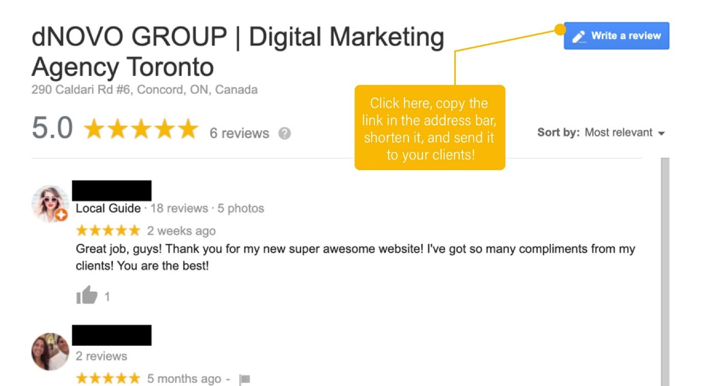 Helping clients in giving google reviews