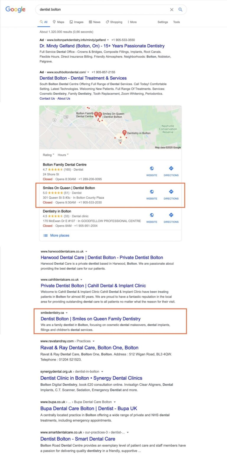 Preview Google Search Bolton
