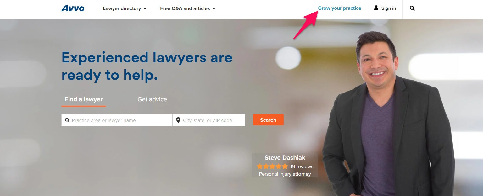 Avvo is one of the largest advertising directories for attorneys