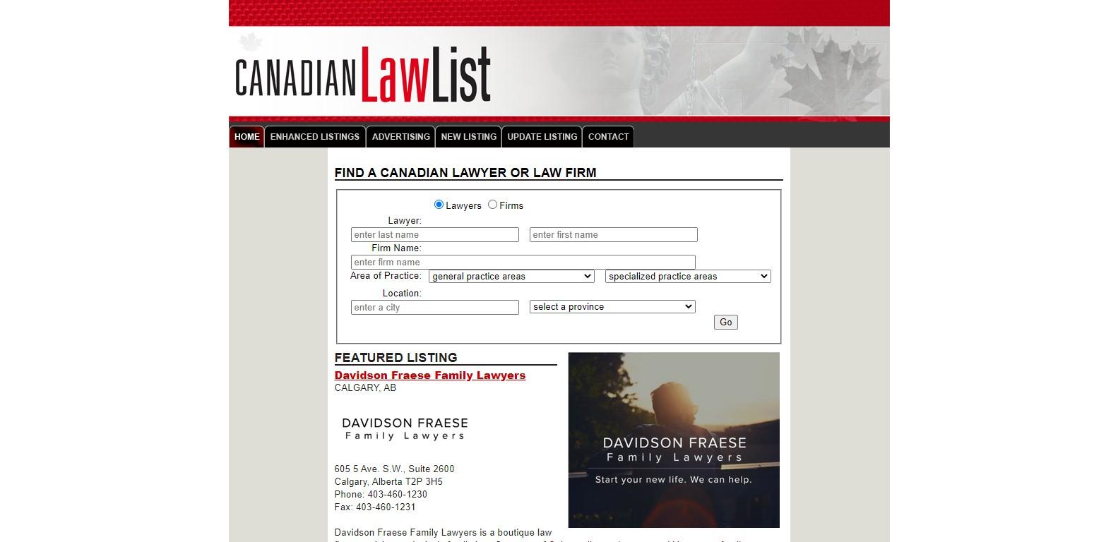 Canadian Law List