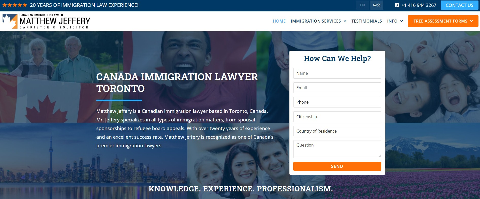 Canadian immigration lawyer based in Toronto