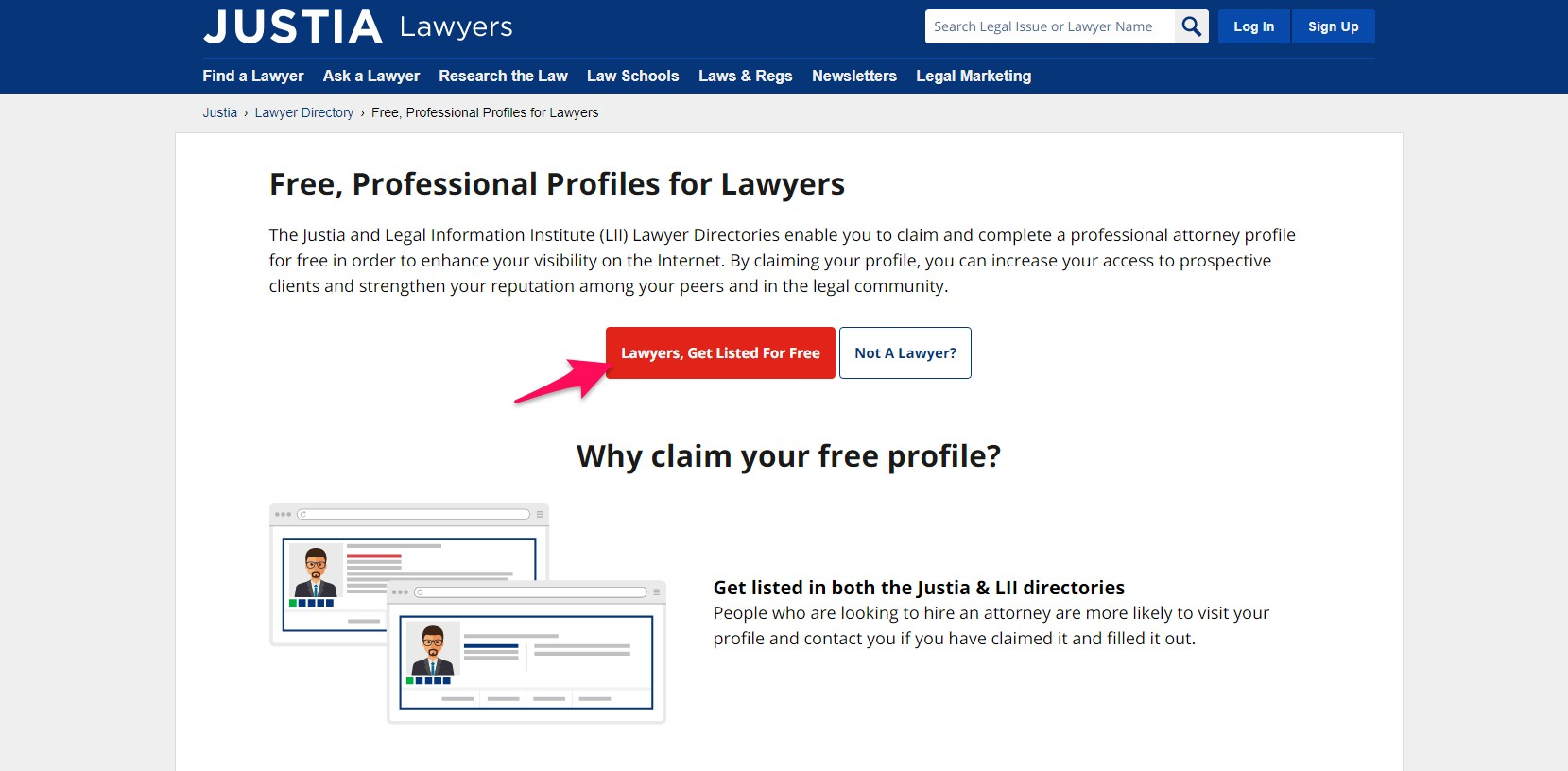 Lawyers, Get Listed For Free