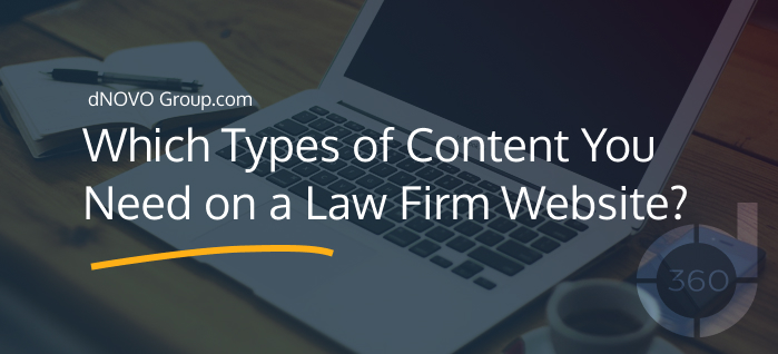 Which Types of Content You Need on a Law Firm Website