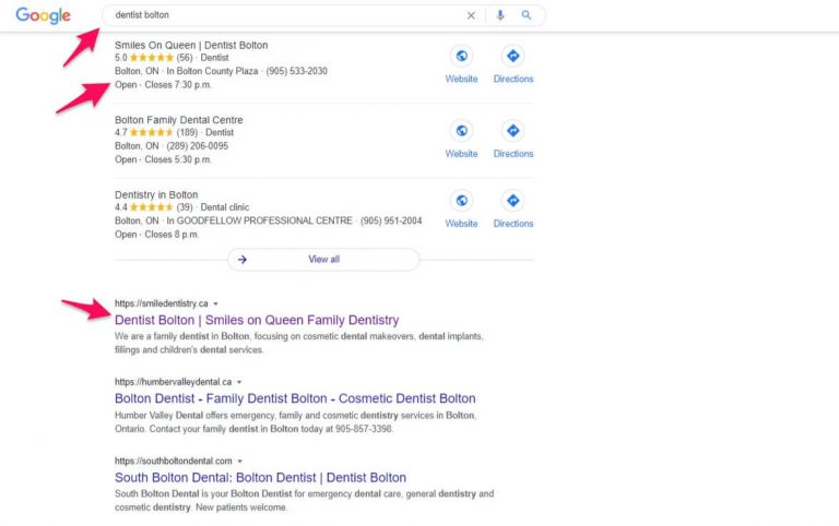 Effective keyword strategy is dNovo Group's client Smiles on Queen