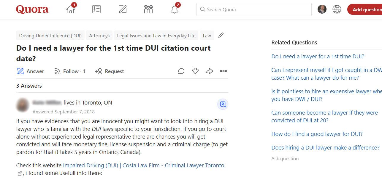 Building Backlinks for Lawyers Toronto