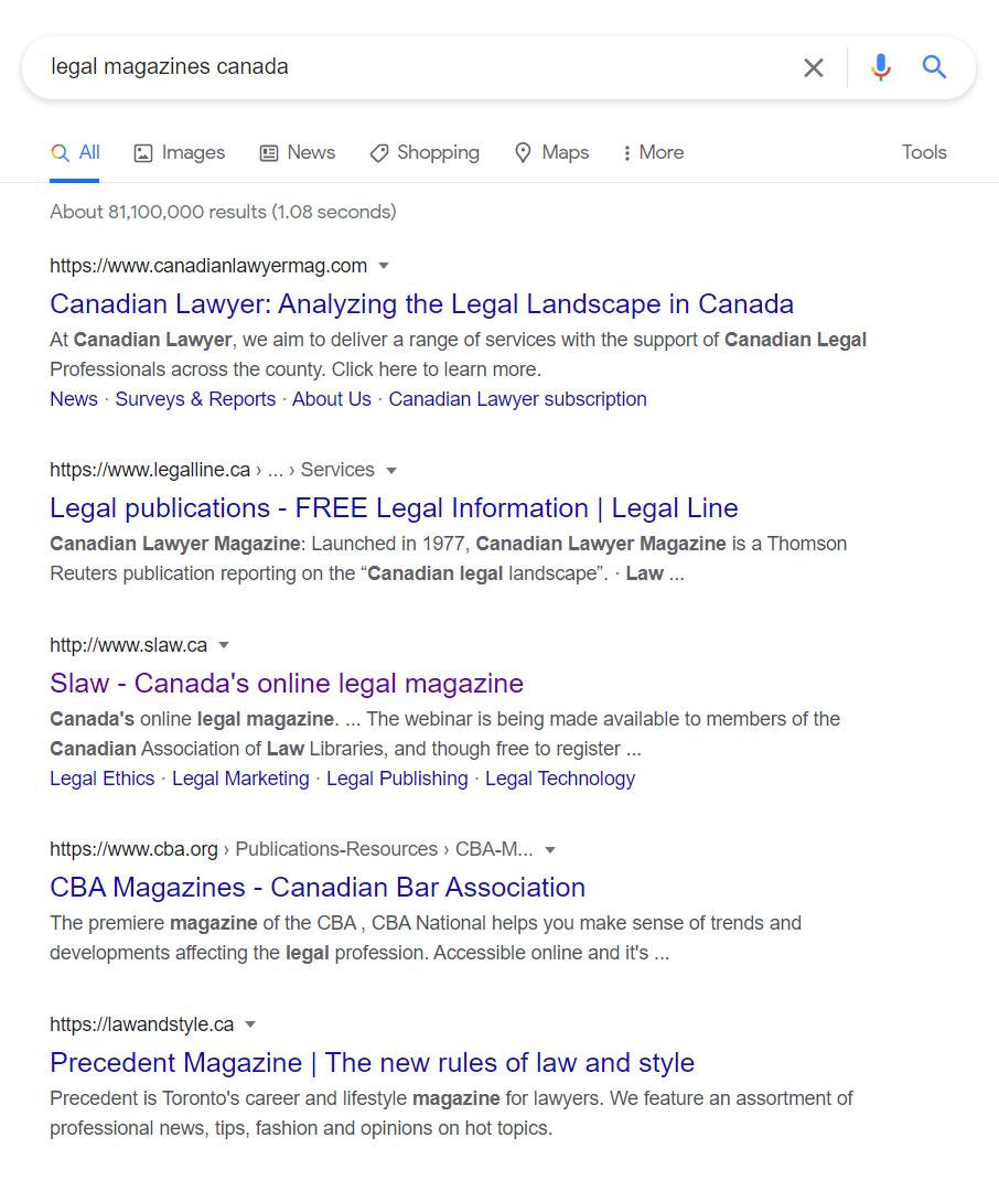 Online Legal Publications