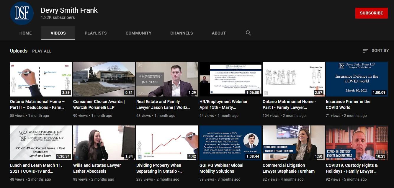 We suggest uploading educational videos