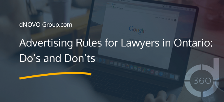 Advertising Rules for Lawyers in Ontario