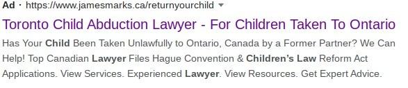 Toronto Child Abduction lawyer